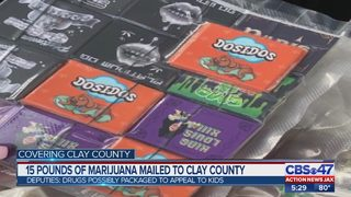 15 pounds of weed sent to Clay County through mail from another state
