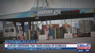 Jaxport CEO: Habor deepening on track to finish two years ahead of schedule