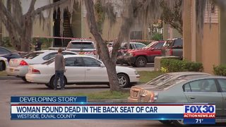 Woman found dead in back seat of car on the westside of Jacksonville
