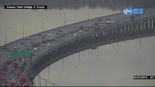 Heavy delays on Dames Point Bridge due to crash