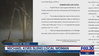 Michael Kors suing Clay County woman