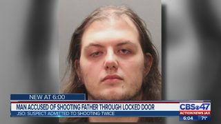 Man accused of shooting father through locked door