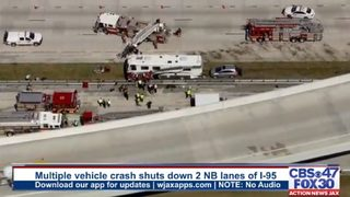 JACKSONVILLE I-95 CRASH: Lanes of I-95 at Butler Boulevard