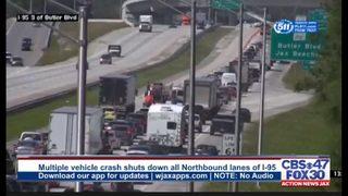 JACKSONVILLE I-95 CRASH: Lanes of I-95 at Butler Boulevard