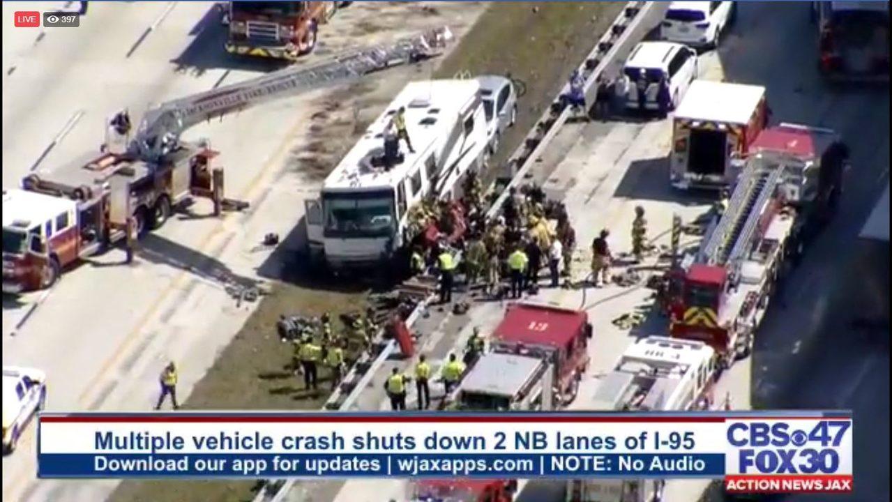 JACKSONVILLE I-95 CRASH: Lanes of I-95 at Butler Boulevard reopen