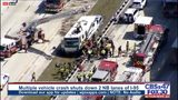 Multiple vehicle crash shuts down multiple Northbound lanes and Southbound lanes of I-95.