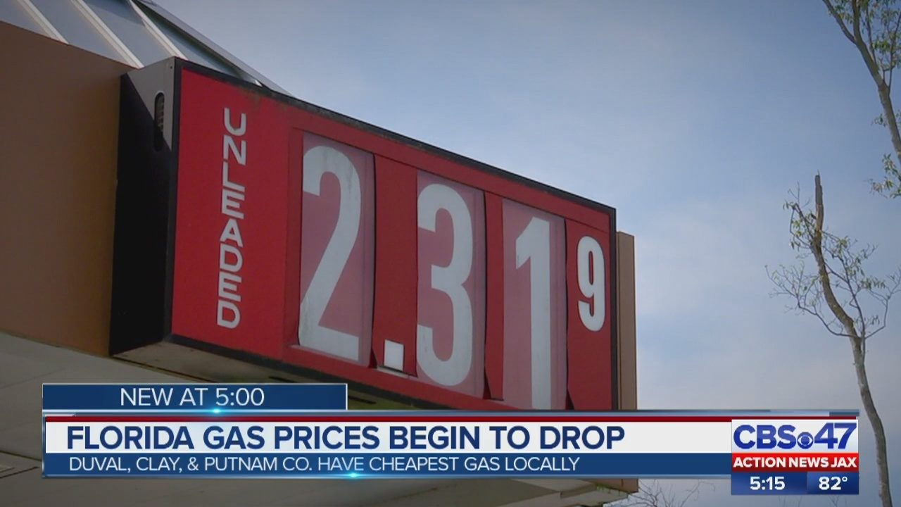 Gas Prices In Florida >> Jacksonville Area Gas Prices At The Pump Dropping In