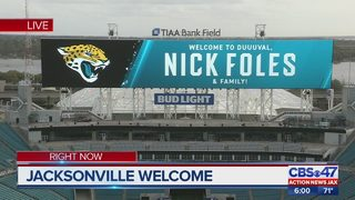 Jacksonville welcomes Nick Foles to the Jaguars