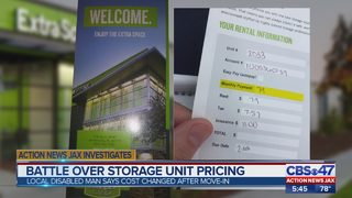 Disabled Jacksonville man says cost of storage unit price changed after move-in