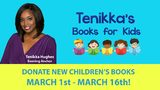 You can still participate in Tenikka's Books for Kids: Donate new and gently used children's books