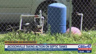 Jacksonville taking action on underground septic tanks causing pollution
