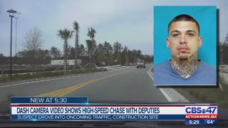 Dash camera video shows high-speed chase with deputies