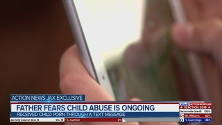 Jacksonville dad says he was texted child porn