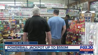 Powerball jackpot up to $550 million
