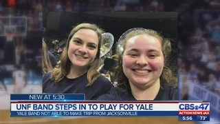 University of North Florida band steps in to play for Yale