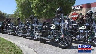 Hundreds of bikers ride in honor of fallen Clay County Deputy Ben Zirbel