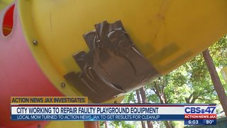 City employees show up to work on playground hours after Action News Jax questions its safety