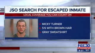 JSO still searching for escaped inmate, Micky Turner