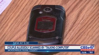 "Jacksonville couple allegedly scammed by ""talking computer"""
