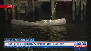 Jacksonville father rescued from water after canoe tipped over