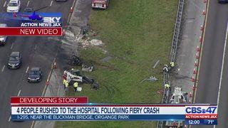 JFRD: Fiery crash on I-295 near the Buckman Bridge delays traffic