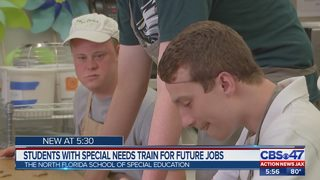 students with special special needs train for future jobs with Forth Florida School of Special Education