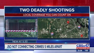 Jacksonville police not connecting crimes 5 miles apart