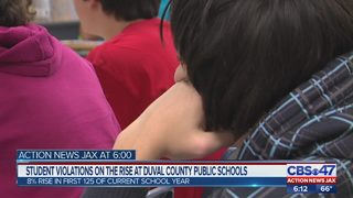 Student violations on the rise at Duval County Public Schools
