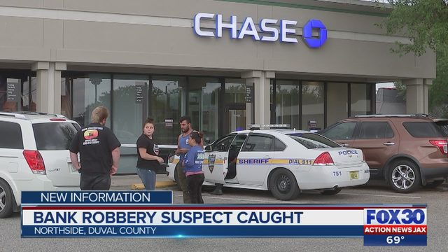 Jacksonville bank robbery suspect caught by JIA police | WJAX-TV