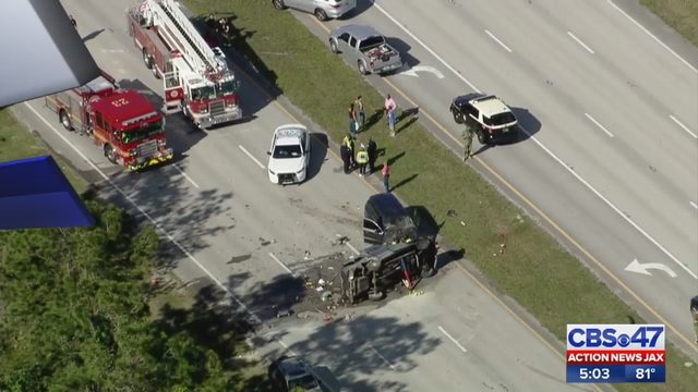 Jacksonville man dies in fiery crash on Roosevelt Boulevard