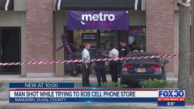 JSO says man trying to rob Metro PCS store was shot | WJAX-TV