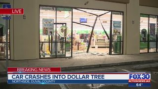 Car crashes into Dollar Tree