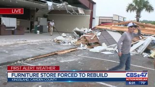 Furniture store forced to rebuild in Kingsland
