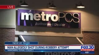 Man allegedly shot during robbery attempt