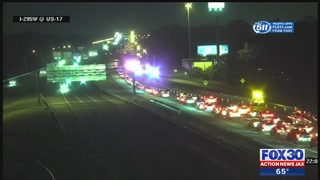 Two lanes blocked for deadly crash on I-295 and Roosevelt near Buckman Bridge