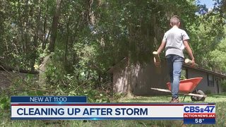 Families wake up without power after storms