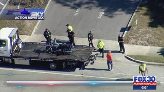 Deputy seriously hurt in motorcycle crash