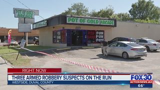 Three Jacksonville armed robbery suspects on the run