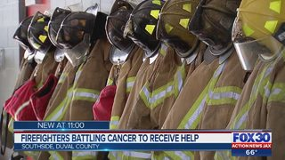Firefighters battling cancer to receive help