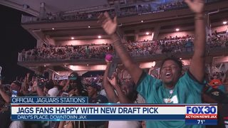 Jags fans happy with new draft pick
