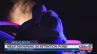 Near drowning in Southside retention pond