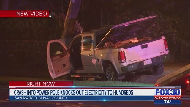 Power out in San Marco after reported crash with injuries