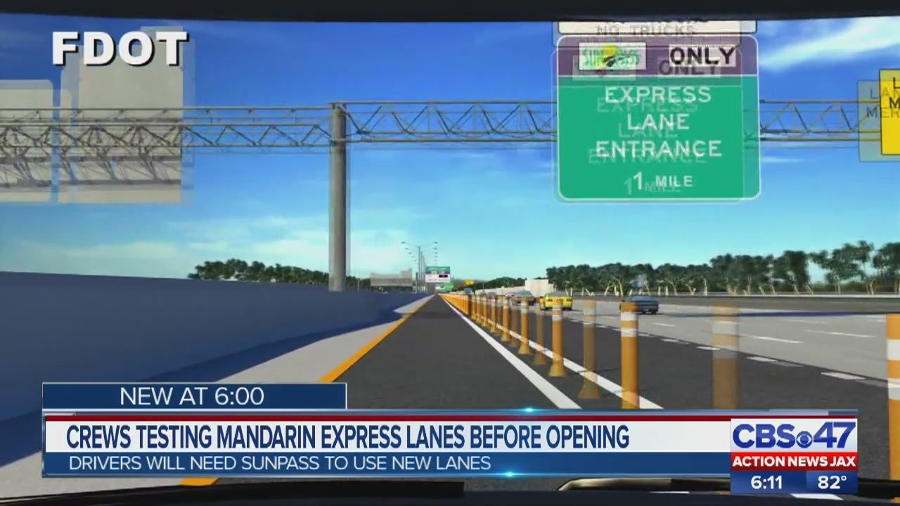 Crews testing Mandarin express lanes on I-295 before opening | WJAX-TV