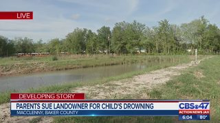 Jacksonville family sues owner of retention pond in Baker County where child drowned
