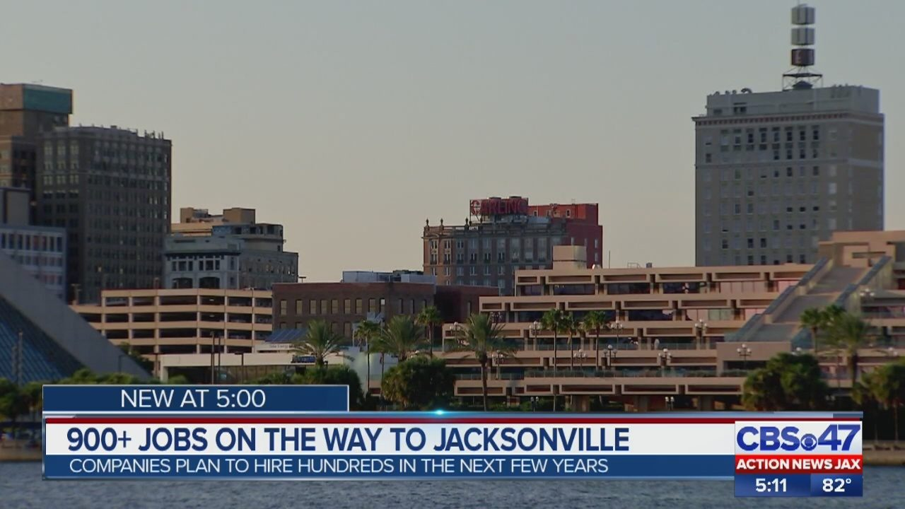 Nearly 1,000 jobs coming to Jacksonville starting in 2019