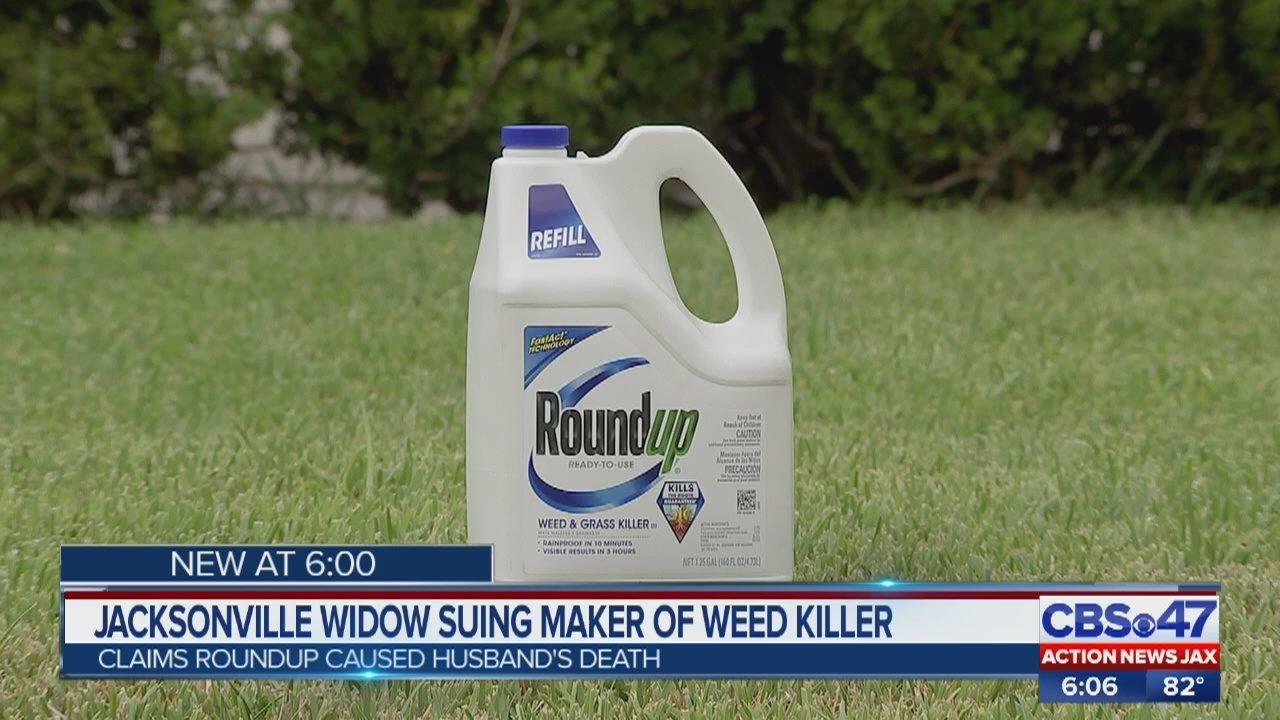 Jacksonville widow sues manufacturer of Roundup weed killer