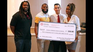 Photos:Jacksonville Urban League Young Professionals donate check to Terry Parker High marching band
