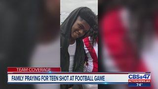 Family praying for teen shot at football game