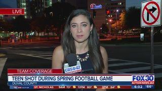 Teen shot during Spring football game