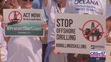 Community joins activists in offshore drilling protest in Jacksonville Beach on Saturday